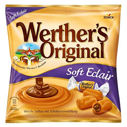 Werther\'s Original Soft Eclair (1 x 180g) / Weiche Karamellbonbons mit Schokoladenfüllung