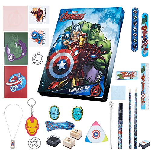 Marvel Adventskalender 2020, Avengers Adventskalender Kinder Schreibwaren, 24 Weihnachtskalender Jungen und Mädchen, Kleine Geschenke Adventskalender Kinder