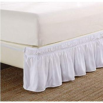 Sólido con volantes cama falda, Easy Fit cama elástica volantes ...