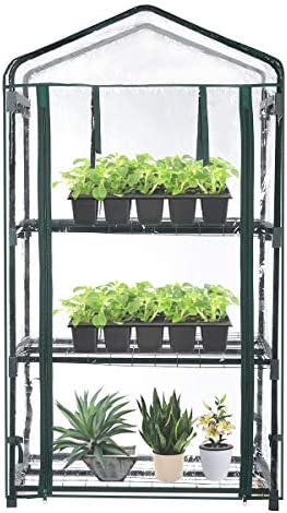 TOOCA Mini Greenhouse 3 Tier 27 X19 X 50 Portable Plant Greenhouse for Indoor Outdoor Gardens product image