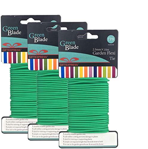 GiftExpress Pack of 3, Garden Soft Wire Tie 32.8