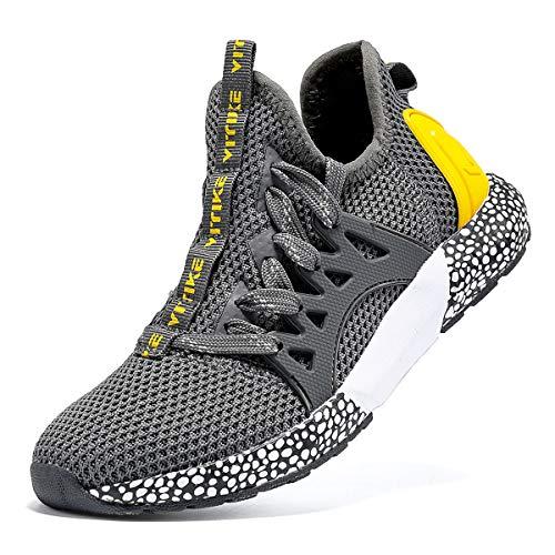 Sneaker Casual da Bambino Scarpe Sportive Corsa Ginnastica Fitness Scarpe da Basket Unisex 33 EU Energia Grigio Scuro