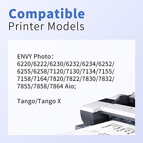 myCartridge PHOEVER Remanufactured Ink Cartridge Replacement for HP 64XL 64 XL 64 N9J92AN N9J91AN for Envy Photo 7855 7858 6255 7155 7120 6252 7164 HP Tango Printer Ink (Black, Tri-Color, 2-Pack)