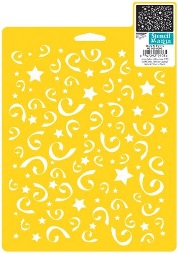 Stencil Mania Stencil 7'X10'-Stars & Swirls