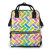 Colores Clipart Resumen Mochila impermeable para pañales, compartimento con dos bolsillos y ocho de almacenamiento para padres
