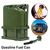 20 Liter (5 Gallon) Portable Fuel Tank, 3 Handles, Gasoline Cans, Car/Motorcycle Spare Fuel Tank Container Thickened Gasoline Barrels Stainless Steel