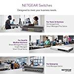 Netgear 8-port gigabit ethernet smart managed plus switch (gss108e) - with virtually anywhere click mount system, and… 9 ethernet port configuration: 48 gigabit ports flexibility from uplink ports: 2 x 1g sfp ports configuration & control: management software with easy-to-use gui interface offers basic capabilities to configure, secure, and monitor your network.