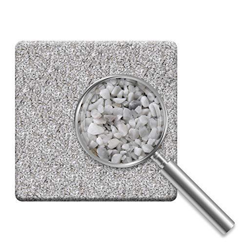 Komplett-Set Home Profis® HPST-2000 Steinteppich Bianco Carrara 2,4m² (25kg Marmorkies + 1,5kg Bindemittel) Epoxidharz Bindemittel, Steinboden, Kiesboden, Kieselboden