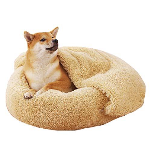 NA/ Cama para, Marginf Plus Terciopelo Casa cálida para Perros Tartas de Huevo Arena para Gatos Cama parade Felpa Cama para Invierno cálido