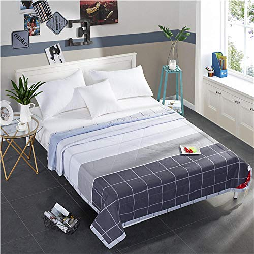 Almondcy Home textile cotton air-conditioning quilt by summer cool by children thin quilt cartoon single double quilt core train summer quilt-200X230cm Summer Quilt * 1_Xinglong Jixia Quilt