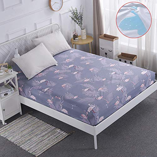 CYYyang Unterbett Soft-Matratzen-Topper, Matratzenschutz Boxspring-Betten geeignet Wasserdichtes Bettlaken einteilig atmungsaktiv - 14_180 * 220 cm