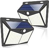 Luces Solares, 2 Paquetes Luz Solar Exterior 208 LED / 3 Modos 270 °...