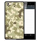 WoowCase Doogee Y300 Hülle, Handyhülle Silikon für [ Doogee Y300 ] Grüne Militärtarnung Handytasche Handy Cover Case Schutzhülle Flexible TPU - Schwarz
