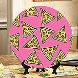 Piatti decorativi per pizza colorati per cartoni animati Espositore per piatti per la cena Piatto oscillante per la casa con espositore per la decorazione della casa