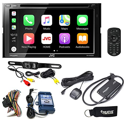 JVC KW-V940BW Receiver w/Wireless compatible with Android Auto, Apple CarPlay, Sirius Tuner, Rear Camera, Steering Wheel Interface