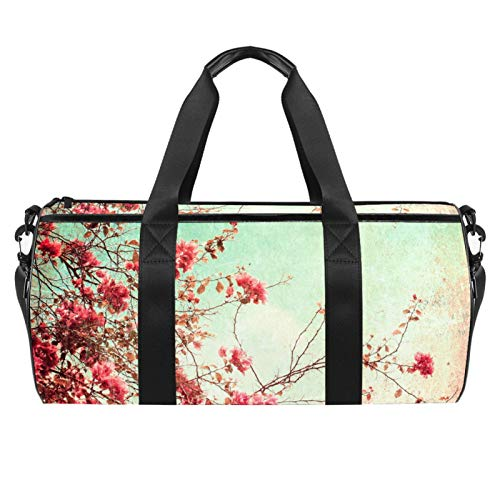chuangxin 18' Duffle Bag for Travel Gym Sports Lightweight Luggage Duffel ,Flower Vintage