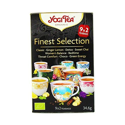 Yogi Tea - Yogi Tea Finest Selection 9x2 sachets Bio - Livraison Gratuite Pour Les Commandes En France - Prix Par Unité