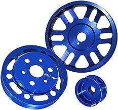 3Pcs Crank Alternator Water Pump Pulley Blue For Toyota Gt86 Scion Frs Subaru Brz