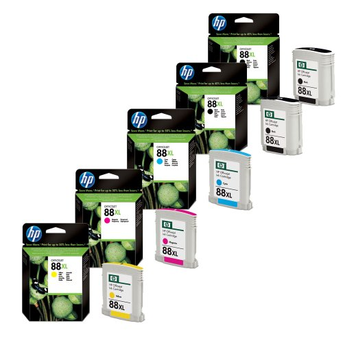 5x Original Tintenpatrone für HP Officejet PRO K 5300, 5400, HP 88XL - 2x BLACK, 1x CYAN, 1x MAGENTA, 1x YELLOW