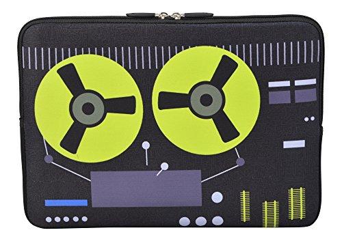 MySleeveDesign Laptoptasche Notebooktasche Sleeve für 10,2 Zoll / 11,6-12,1 Zoll / 13,3 Zoll / 14 Zoll / 15,6 Zoll / 17,3 Zoll - Neopren Schutzhülle mit VERSCH. Designs - Recorder [11-12]