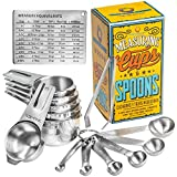 Wow Four Design Updated 2021 Version Measuring Cups and Spoons Set of 6 Measuring Cups and 6...