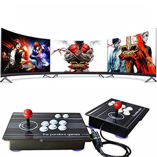 YUN Clock 3D Home Arcade Game Console Pandora's Box | 3333 Retro HD Games | 2 Player Game Controls | Full HD 1280x720P Video | Support Multiplayer Online | HDMI/VGA/USB/AUX Audio Output, GM09,J