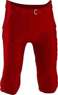 Riddell Men's Practice Fully Integrated Football Pants - Scarlet Red, L