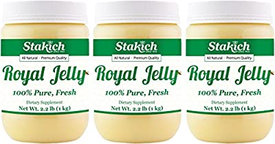 Stakich Fresh Royal Jelly - 100% Pure, All Natural, Highest Quality - No Additives/Flavors/Preservatives Added - 3 KG
