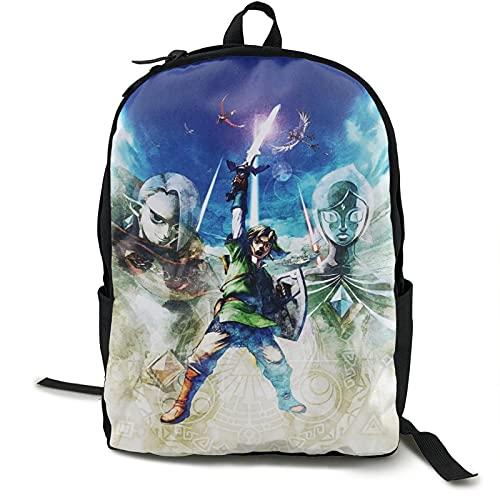 The Legend_of Zelda - Mochila para estudiantes con impresión de escuela, impermeable, mochila de viaje para adolescentes