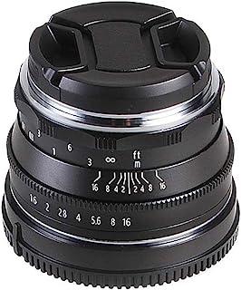 Hersmay 35mm F/1,6 Manueller Fokus Prime Fixed Objektiv für M4 / 3 Mount Panasonic G6,G7, G85, GM10, GX1, GX7, GX8 GH5s Olympus E PL3,E M5, E M10, PEN F, E M5 Mark II, E M10 Mark II, E M10 Mark III