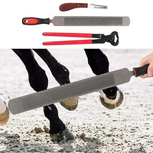 FSJD Taglierina Professionale per Zoccoli per Cavalli in Metallo, Kit per rifinitura per Zoccoli, tagliapiedi Grande Medio per Cavalli Asini
