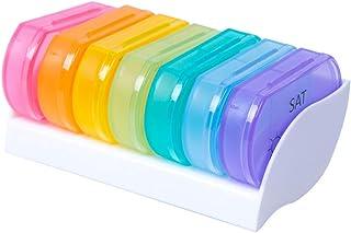 SUPVOX 7PCS Plastic Pill Box Organiser Portable Pill Dispenser Box Vitamin Medicine Pill Tablet