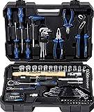 Projahn Werkzeugkoffer Set proficraft 98 tlg. 1/4'+1/2' 8666