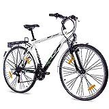 KCP, City Bike da 28pollici con pneumatici da trekking, bici da uomo Terrion Gent con cambio Shimano a...