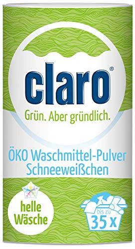claro Scheeweißchen Waschpulver - 1 kg Waschmittel-Pulver für weiße Wäsche - vegan & nachhaltig - 35 Waschgänge