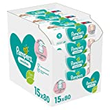 Baby Wipes Multipack, Sensitive, 1200 Count (15 x 80), Baby Essentials for Newborn, Fragrance Free 1200 Count (Pack of 1) - B07P7KJ1QS