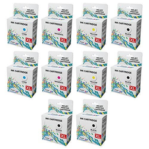 10 Compatible Dell Series 31 Ink Cartridges for Dell V525W V725W - 10-PACK: 4 x BLACK, 2 x CYAN, 2 x MAGENTA, 2 x YELLOW