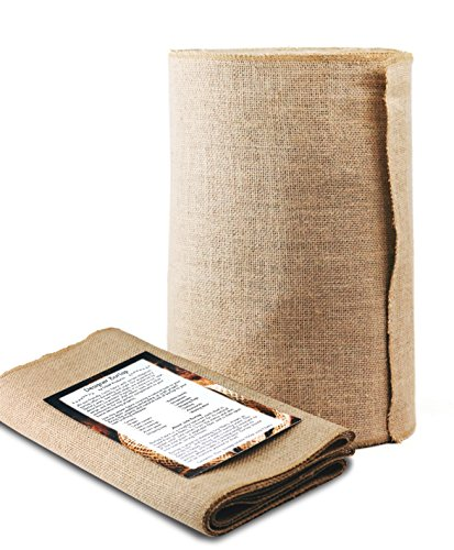 Designer Burlap Table Runner - For Farmhouse-Style Dining Room - Woven Jute Fabric Placemats or Centerpieces - Rustic Home Decor for Coffee, Tea, & Outdoor Tables - Long Roll, 14 Inches x 50 Yards