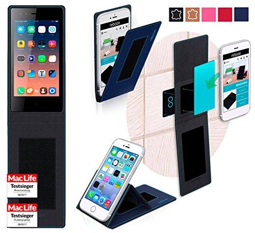 reboon Hülle für Siswoo A4 Plus Chocolate Tasche Cover Case Bumper | Blau | Testsieger