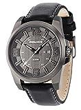 Police Reloj de hombre cuarzo 46mm correa de cuero color negro caja de acero dial gris 14762JSU/61