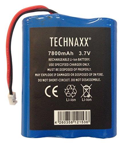 Technaxx 4648 TX-75 digitale draadloze deurspion met ingebouwde camera en 3,5 inch tafelmonitor zwart, 7800 mAh, zwart