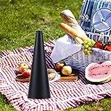 Stecto Fliegenabwehr, Tragbar geruchsfrei Fliegenabweisender Ventilator, Mückeninsekten fernhalten, batteriebetriebener Fliegenfänger für EIN Picknick