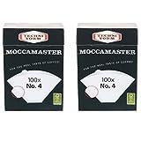 Moccamaster - Juego de 2 filtros n.º 4 (100 bolsas de filtro)