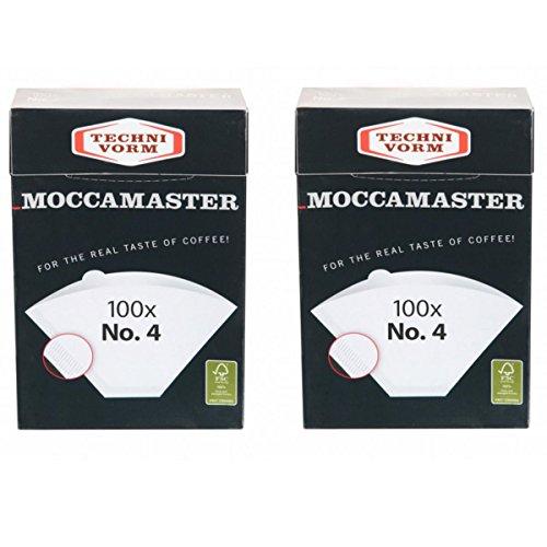 Moccamaster 2 x Filter No.4 (je 100 Filtertüten) Technivorm