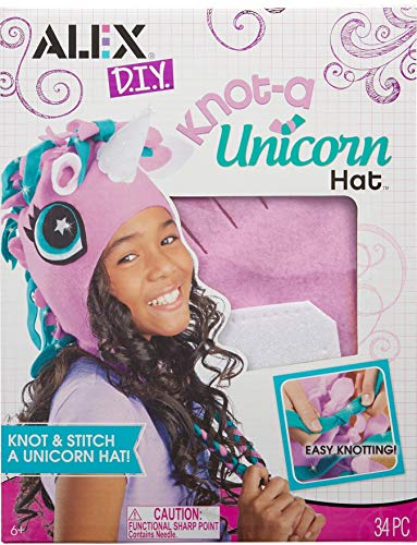 Alex DIY Knot-A Unicorn Hat Craft Kit Kids Art and Craft Activity
