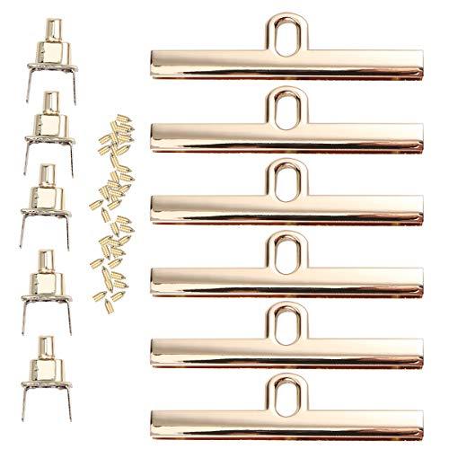 SUPVOX Mini Chiusure per borse Clic Chiusure Portamonete in metallo Manici per Borse con serrature eviti (d'oro) 6 pezzi