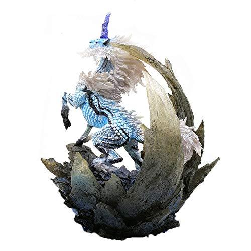Romantic-Z Japón Monster Hunter Game Model 2018 New Monster Hunter World Figures Action Dragon Model Collectible Monster Gift, White