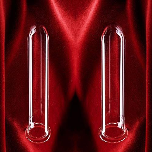 2 Stck Theros ® FMS Borosilit Dilatatoren 28- und 32 mm zur Dehnung, Flexibilisierung, Massage und Stimulation, anal oder vaginal anwendbar