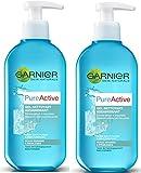 Garnier Pure Active Gel Nettoyant Assainissant 200 ml - Lot de 2
