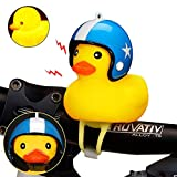 Vuffuw Kids Bike Horn, Cute Duck Bicycle Lights Bicycle Handlebar Bell,Clip on Handleabr